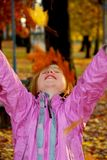 Autumn girl Royalty Free Stock Images