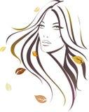 Autumn girl. Beatuful girl with autumn leaves Stock Photo