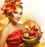 Autumn Girl Royalty Free Stock Photo