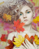 Autumn girl Stock Photography