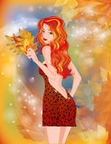 Autumn girl. Royalty Free Stock Photography
