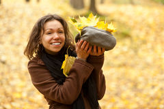 Autumn girl. Stock Photo