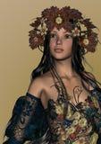 Autumn Girl royaltyfri illustrationer
