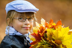 Autumn Girl image stock