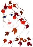 Autumn Girl Imagens de Stock