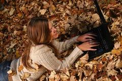 Autumn Girl Stockfoto