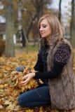 Autumn Girl Fotografia Stock