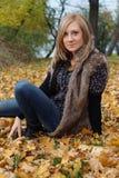 Autumn Girl Imagen de archivo