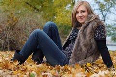 Autumn Girl Arkivbild