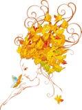 Autumn girl. Beautiful women, design for season fashion Royalty Free Stock Photos