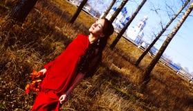 Autumn Girl Stock Foto's