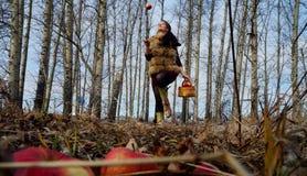Autumn Girl Stock Afbeeldingen