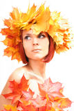 Autumn-girl Stock Images