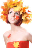 Autumn-girl Stock Photography