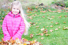 Autumn Girl Lizenzfreie Stockfotografie