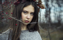 Autumn Girl Image libre de droits