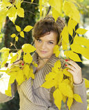 Autumn girl concept Stock Image