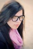 Autumn Girl in Glasses Stock Photo