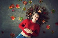 Autumn Girl arkivfoton