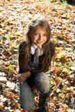 autumn girl park стоковые фотографии rf