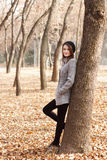 Autumn. Girl in a park Royalty Free Stock Photo