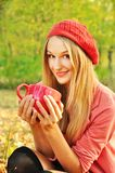 Autumn girl portrait Stock Image