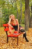 Autumn girl portrait Royalty Free Stock Photography