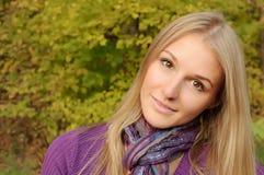 Autumn girl portrait Stock Photos
