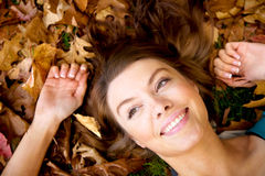 Autumn girl portrait smiling Royalty Free Stock Photo