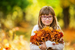 Autumn girl Royalty Free Stock Image