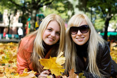 Autumn Girls Royalty Free Stock Images