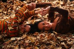 Autumn girls Royalty Free Stock Photography