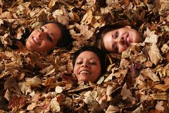 Autumn girls Stock Images