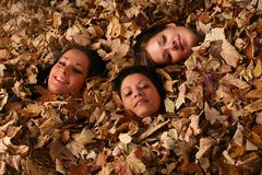 Autumn girls Royalty Free Stock Photos