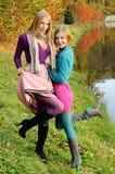 Autumn girls portrait Royalty Free Stock Photos