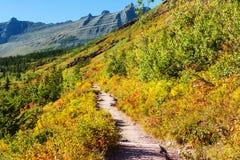 Autumn in Glacier Park Stock Photo