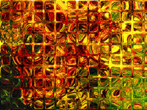 Autumn glass windows. Autumn outside, impressionism windows, over glass Royalty Free Stock Photography