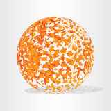 Autumn globe ball background Royalty Free Stock Photo