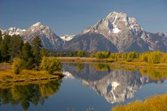 Autumn Glow. Autumn scene of Oxbow Bend, Grand Teton National Park, Wyoming, USA royalty free stock photography