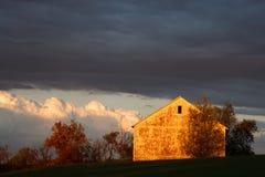 Autumn Glow With Storm Clouds Foto de archivo libre de regalías