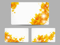 Autumn glowing banners Stock Image