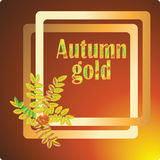 Autumn gold. Vector image for banners, invitations. Royalty Free Stock Images