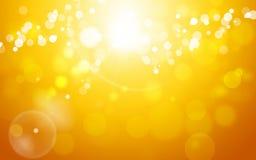 Autumn Golden Abstract Background Imagem de Stock Royalty Free