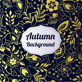 Autumn Golden Background Illustration Stock