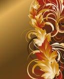 Autumn golden card,  Stock Photo
