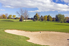 Autumn Golf Bunker Royalty Free Stock Images