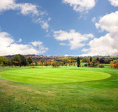 Autumn Golf Course. Golf field in autumn day Royalty Free Stock Photo