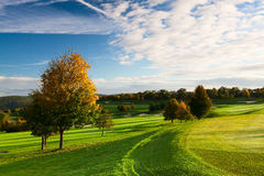 Autumn golf course Royalty Free Stock Photography