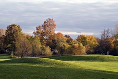 Autumn Golf Course Landscape Royalty Free Stock Image