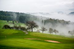 Autumn on the golf course Royalty Free Stock Photography